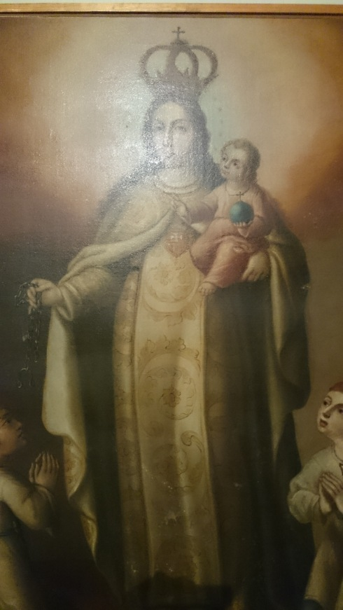 Pintura de la Virgen de la Merced, siglo XVIII.